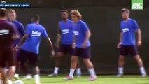 Antoine Griezmann prend déjà deux petits ponts pour son premier jour au Barça