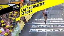 Last kilometer / Flamme rouge - Étape 9 / Stage 9 - Tour de France 2019