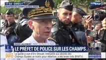 """Champs-Elysées: le préfet de police de Paris craint que """"de nouvelles difficultés apparaissent"""" dans la soirée"""