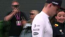 Verstappen signs autographs after British Grand Prix