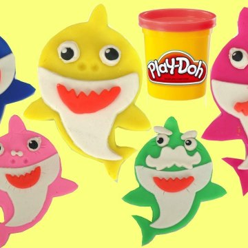 Pinkfong's Baby Shark Song Play-doh Set with Mold, Cutter - Plush Toys