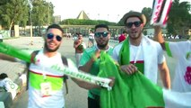 Fans gather to watch Algeria and Nigeria meet in the AFCON semis
