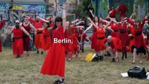 Wuthering Heights flash mobs pay homage to Kate Bush classic