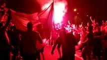 La joie des supporters algériens à Grenoble