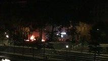 Des voitures en feu quai Augagneur, Lyon 3e