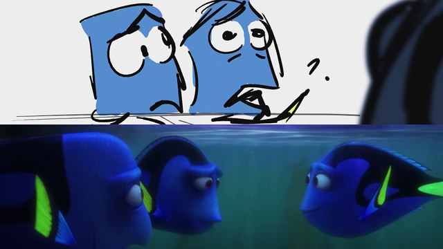Pixar Side-by-Side - Cuddle Party with Otters from Finding Dory