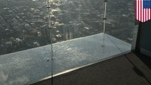 地上103階のガラスの床にヒビ 米ウィリス・タワー - トモニュース