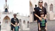 Shahrukh Khan's wife Gauri Khan visits church with son Abram Khan | FilmiBeat