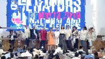 Poe, Binay refuse Duterte fist pump with senators-elect