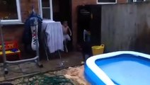 Keith Eloi jumps out of the Pool BACKWARDS!!!! - video
