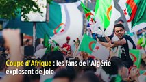 Coupe d'Afrique : les fans de l'Algérie explosent de joie