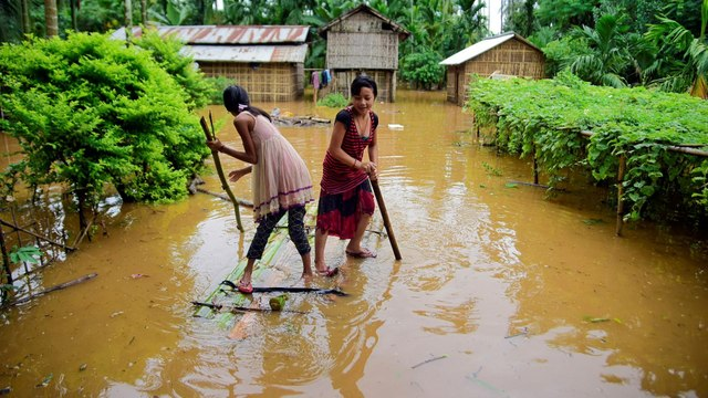 Deaths, displacement as heavy rain and floods hit northeast India