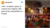 CAN 2019 : Incidents après la victoire de l'Algérie, 282 interpellations en France