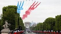 Un 14 juillet agité pour Emmanuel Macron et les Champs-Elysées...