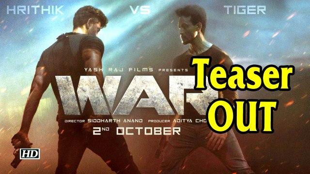 Its Hrithik Vs Tiger in 'War' | Teaser OUT