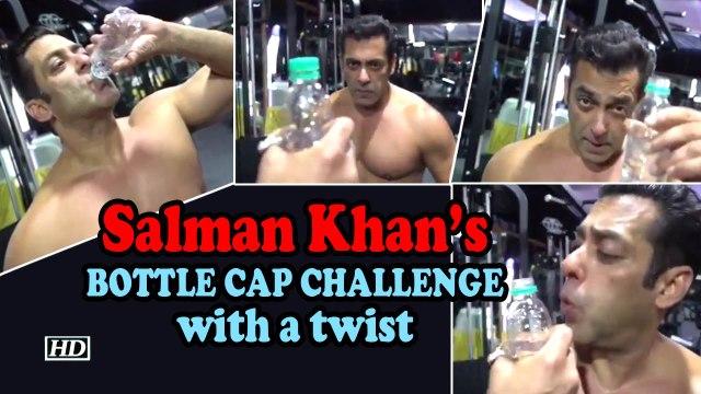 Salman Khan's BOTTLE CAP CHALLENGE with a twist