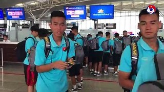 ĐT U18 Việt Nam lên đường sang Nhật Bản tập huấn | VFF Channel