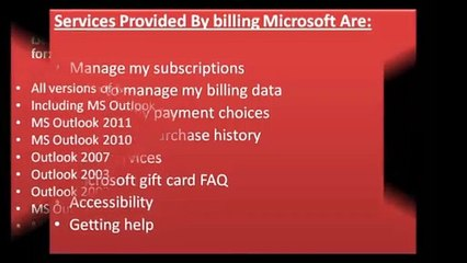 Microsoft Online Service Billing |Call @ +1-855-785-2511 |  MSN Billing Num