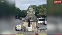 Franky Zapata, l'homme volant du défilé du 14 juillet 2019 à Paris