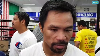 Pacquiao on training, Thurman trash-talk