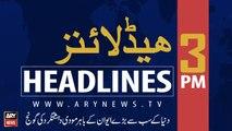 ARY News Headlines | Sindh govt bans pillion riding for Muharram to visit Srinagar | 3 PM | 25 August 2019