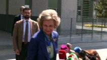 Doña Sofía regresa al hospital para visitar a don Juan Carlos