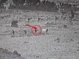 IDF video showing attempted Iranian drone launch (IDF Spokesperson's Unit)