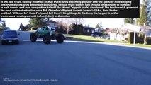 Big Engine Monster Trucks Burnout Running and Sound