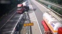 Un routier fait demi-tour sur l'autoroute après s'être trompé de route