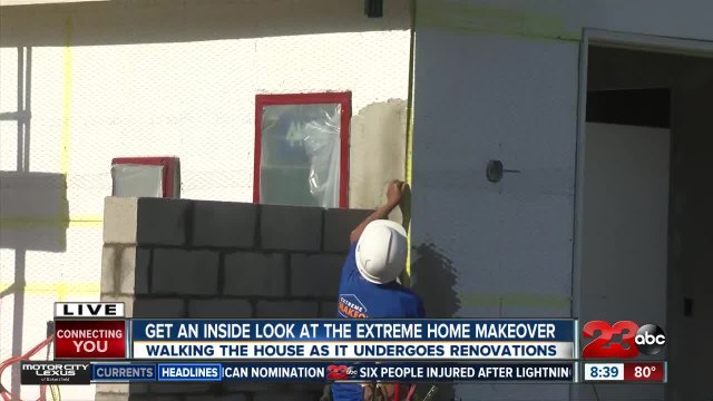 Renovations continue on home for a local family chosen for the show Extreme Makeover: Home Edition