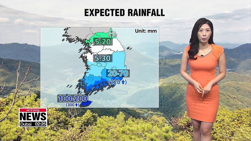 Jeju and southern coastal regions need to keep rain gear handy 082619