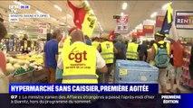 Angers: des gilets jaunes perturbent la première ouverture sans caissier d'un hypermarché