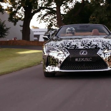 The new Lexus LC Cabriolet at Goodwood 2019