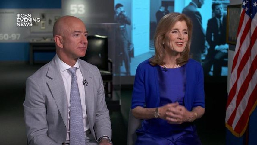 Jeff Bezos and Caroline Kennedy on plans to head back to the moon