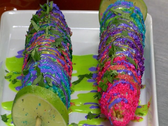NEON TACOS AND ELOTE! Twisted Munchies makes bright slime sauces - ABC15 Digital