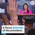 Sarah Huckabee Sanders stepping down as White House press secretary