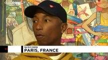 Pharrell Williams et Mr. au musée Guimet
