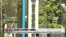 WTO General Council to discuss Japan's export curbs on S. Korea next week