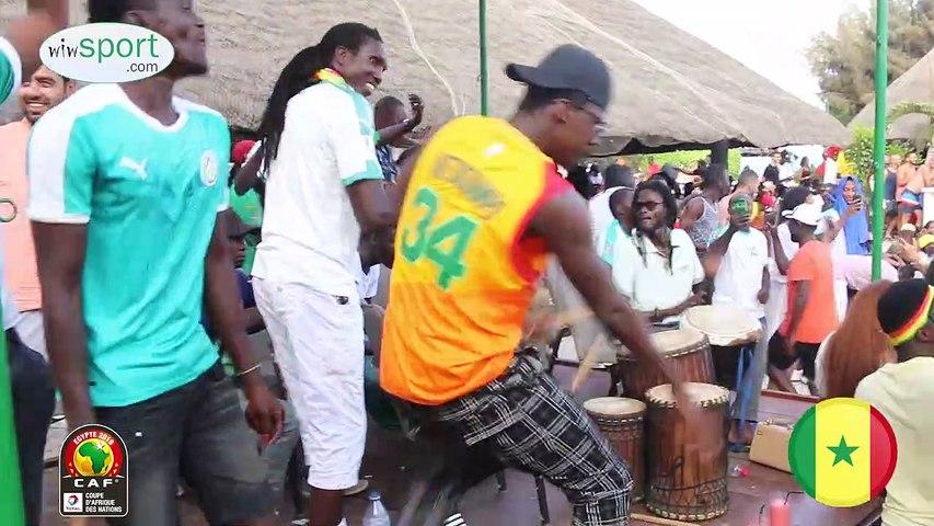 La joie des sénégalais après le but de l'équipe nationale contre la Tunisie