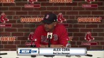 Alex Cora Reacts To Red Sox Loss To Dodgers