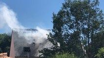 Un pavillon détruit par un incendie