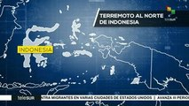 Indonesia registra sismo de 7.3 grados richter y tres réplicas de 5