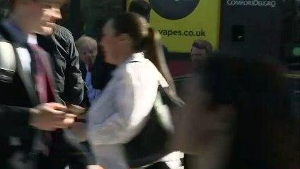 Boris Johnson arrives for final leadership debate