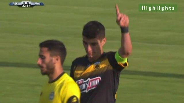 1-0 Petros Mantalos AMAZING Goal - AEK 1-0 Maccabi Netanya 15.07.2019 [HD]