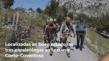 Salen de la cueva las tres espeleólogas a las que se buscaba en Cantabria