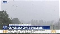"""Orages: le préfet de Haute-Corse assure """"qu'aucune victime n'est à déplorer"""" et que seuls """"1000 foyers sont privés d'électricité"""""""