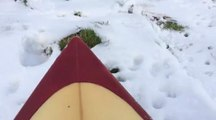 Video: Surfing the snow in North Yorkshire
