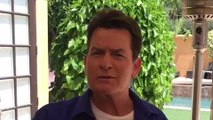 Charlie Sheen's personal selfie video message to UK fans
