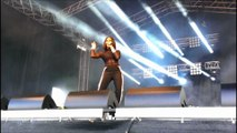 Alexandra Burke wows crowd at the Bents Park