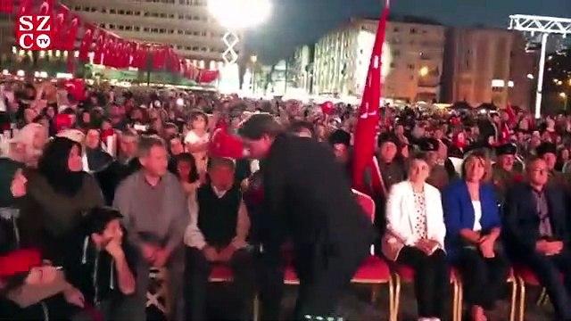 Erdoğan konuşunca nöbeti terk ettiler